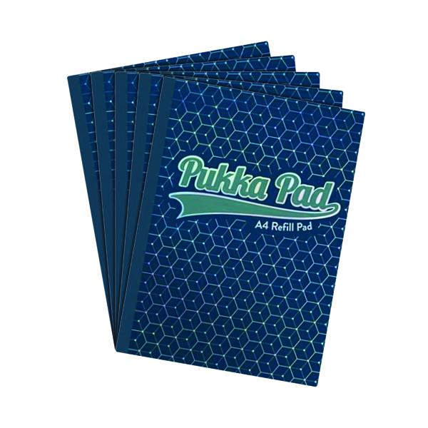 Pukka Glee Refill Pad A4 Dark Blue (Pack of 5) 8891-GLE