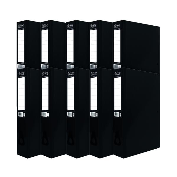 Pukka Brights Box File Foolscap Black (Pack of 10) BR-7773