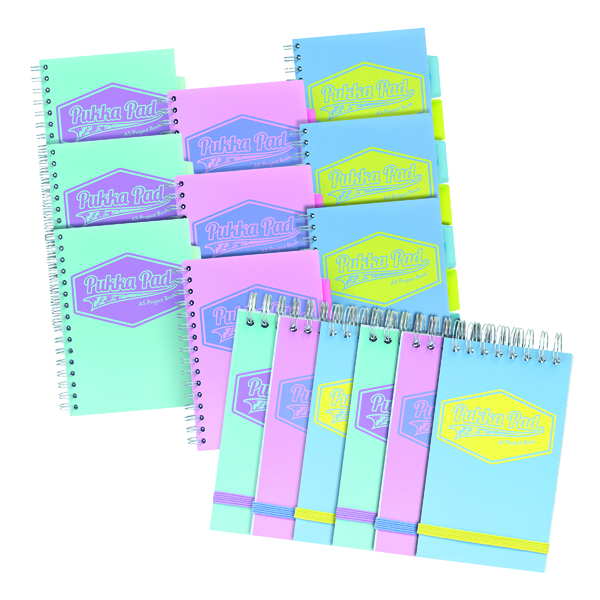 Pukka Pads Project Book A5 (Pack of 9) Plus FOC A7 Pocket Book (Pack of 6)