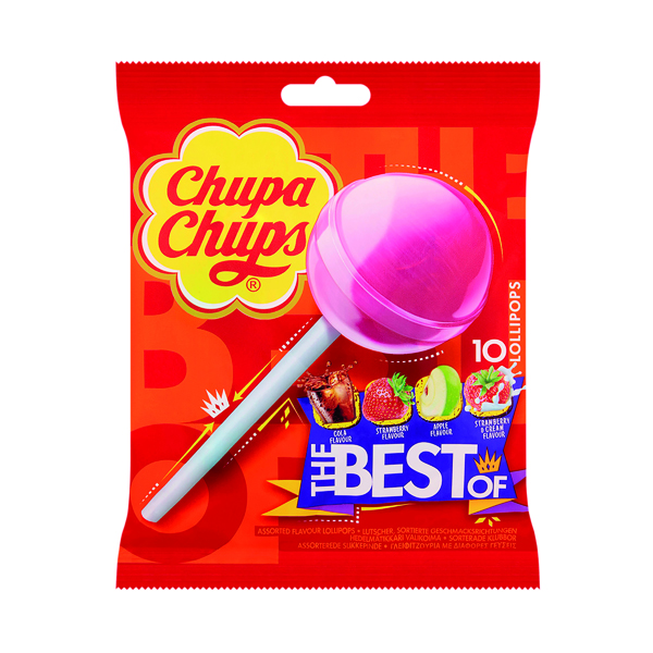 Chupa Chups The Best Of Lollipops (Pack of 10) 8401976