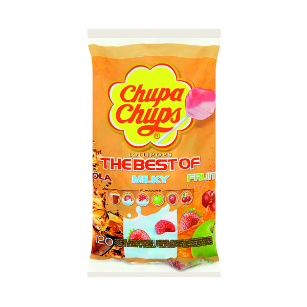 Chupa Chups Fruit Refill Bag 20 Percent Extra (Pack of 120) 8302971