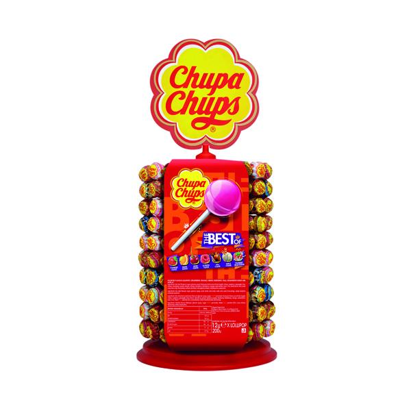 Chupa Chups Lollipops Wheel 180 Plus 20 Free (Pack of 200) 8402021