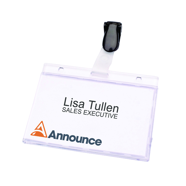 Announce Security Pass Holder 60x90mm (Pack of 25)