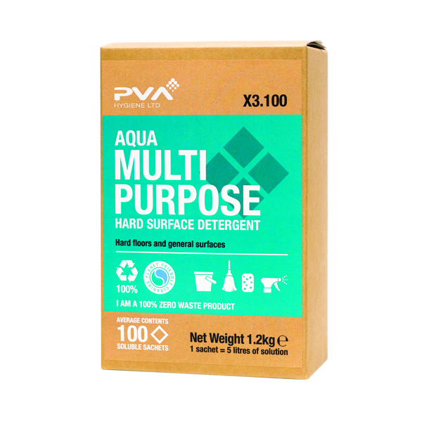 PVA Hard Surface Cleaner Sachets Aqua (Pack of 100) PVAA3-100