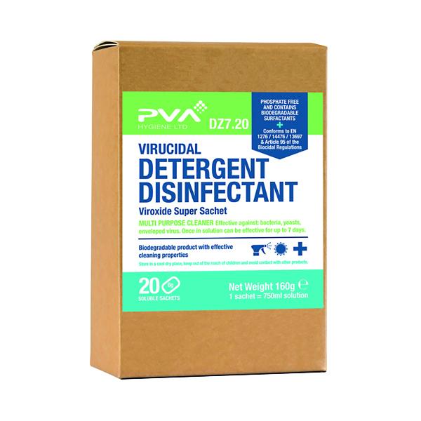 PVA Virucidal Detergent Disinfectant (Pack of 20) DZ7:20