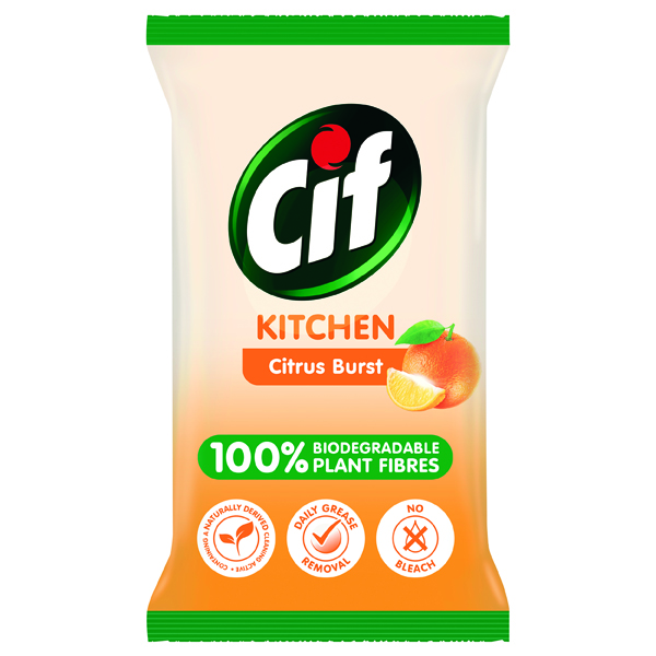 Cif Bio Kitchen Wipes 80 Sheets (Pack of 6) C001709