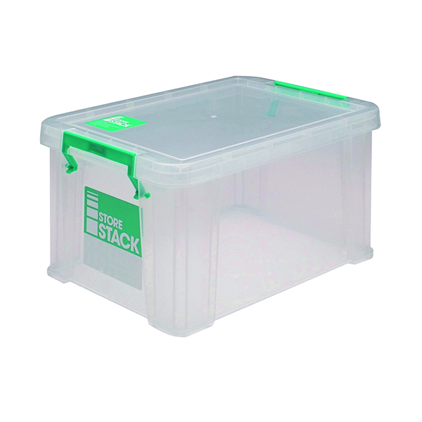 StoreStack 1.7 Litre Storage Box W200xD130xH110mm Clear RB00815