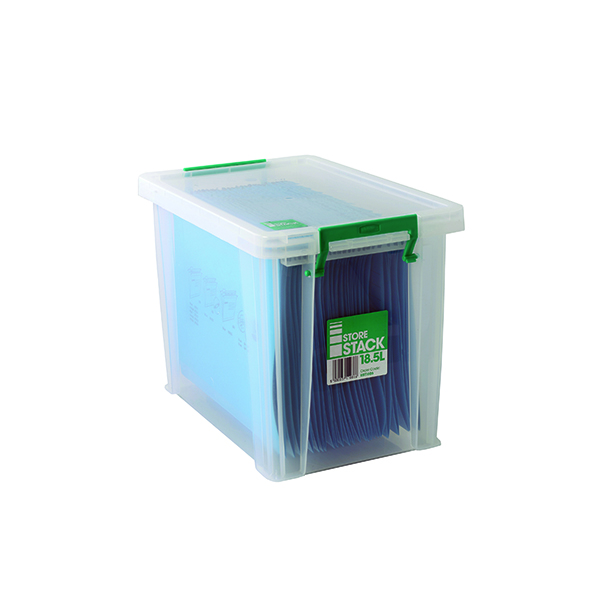 Image for StoreStack 18.5 Litre Storage Box W400xD260xH290mm Clear RB11086