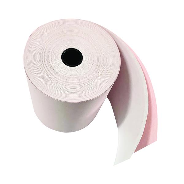 Prestige Till Rolls 2-Ply 76mm White/Pink (Pack of 20)