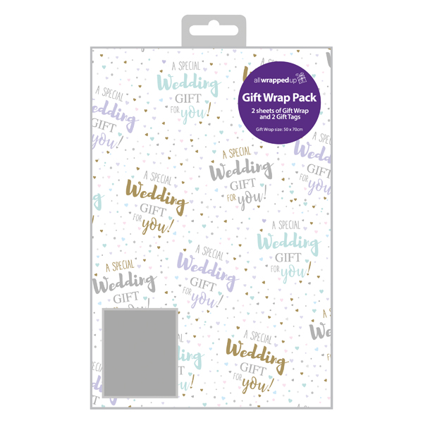 Regent Wedding Gift Wrap and Tag (Pack of 12) F364