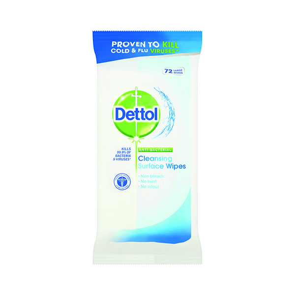 Dettol Surface Cleanser Wipes (Pack of 72) Wipes C001272