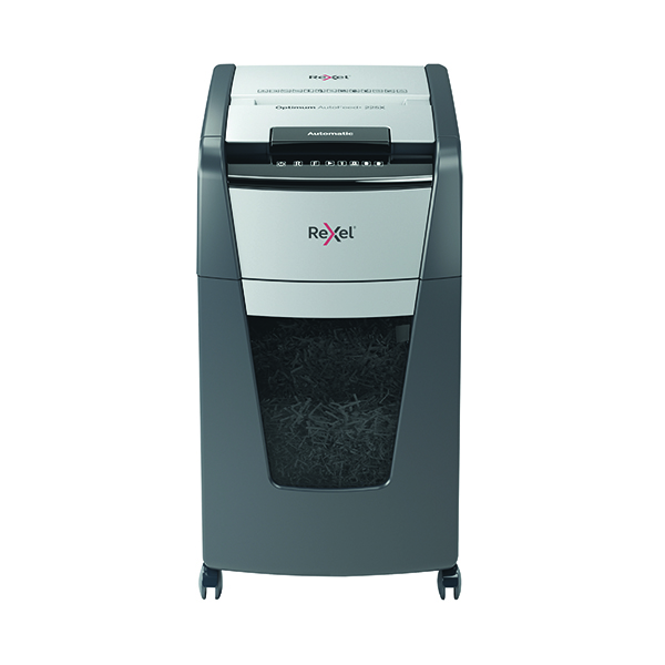 Rexel Auto+ 200X Cross Cut Shredder Black (Shreds up to 200 sheets of 80gsm paper) 2103175