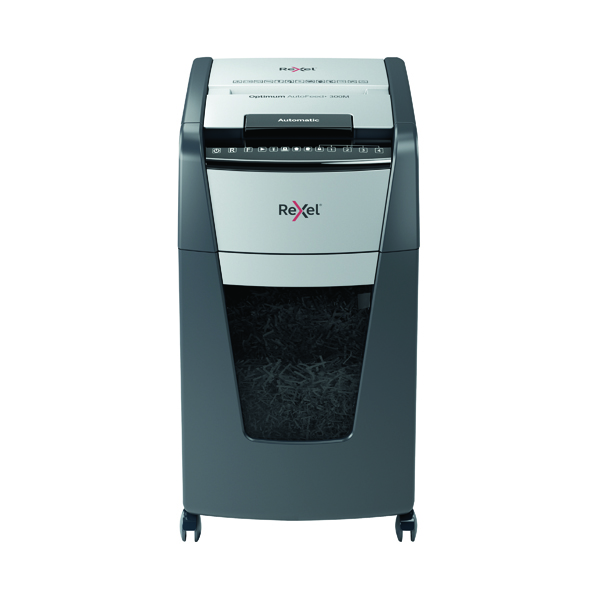 Rexel Auto+ 300M Micro Cut Shredder Black (Shreds up to 300 sheets of 80gsm paper) 2104300