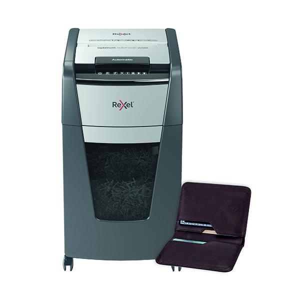 Rexel Optimum AutoFeed+ 225M Micro-Cut Shredder Black 2020225M