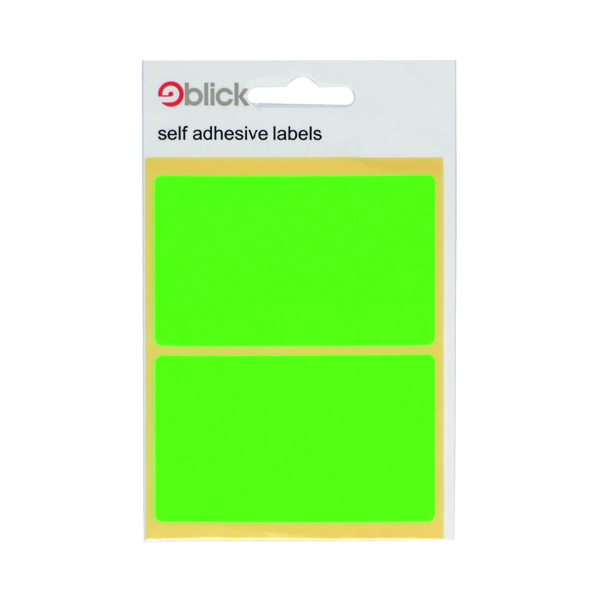 Blick Green Fluorescent Labels in Bags 50x80mm (Pack of 160) RS010654