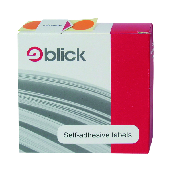 Blick Labels in Dispensers Round 19mm Blue (Pack of 1280) RS011453
