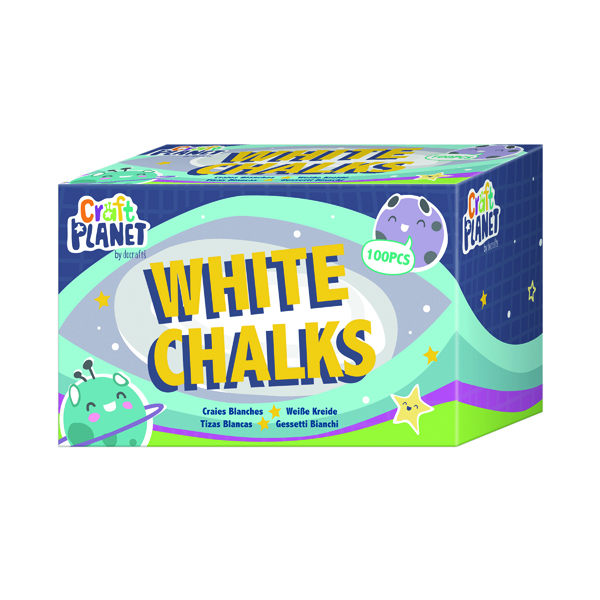 Image for Study Time Chalk White (Pack of 100) EDU211