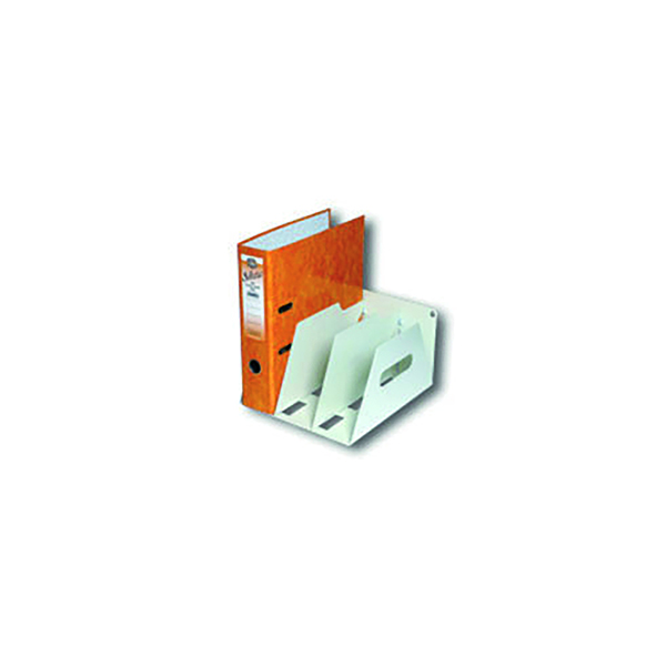 Rotadex 3-Section Lever Arch Filing Rack A4 Smoke White LAR3