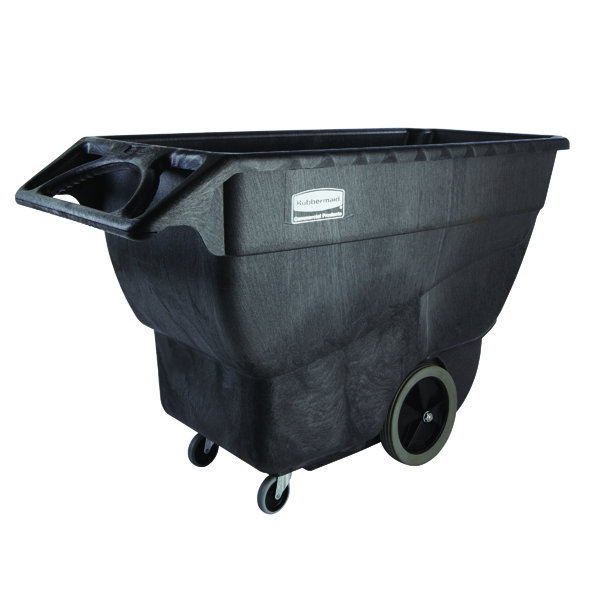 Rubbermaid Tilt Truck 600mm Cubed Standard Duty Black FG101100BLA