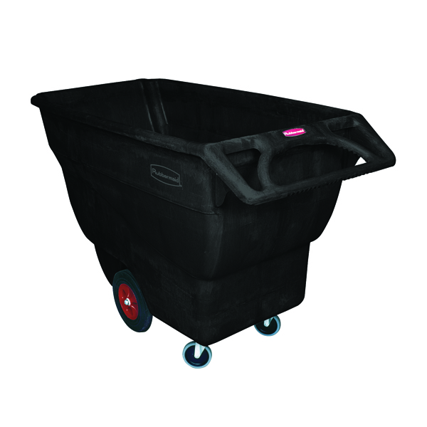 Rubbermaid Tilt Truck 600mm Cubed Heavy Duty Black FG101300BLA