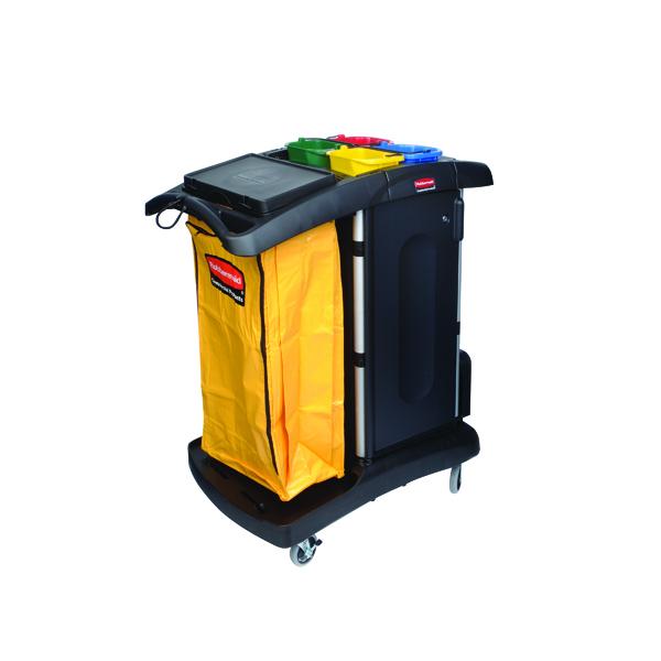 Rubbermaid Secure Microfibre Cart Black R052001