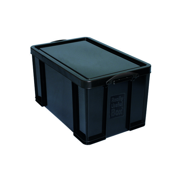 Really Useful 64L Recycled Plastic Storage Box Black 64Black R