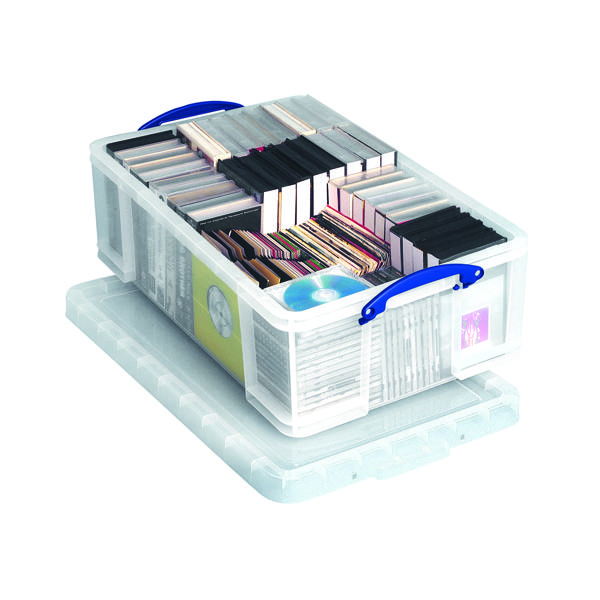 Really Useful 50L Plastic Storage Box W710xD440xH230mm Clear KING50C