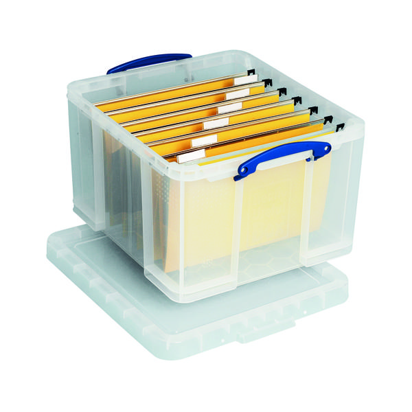 Really Useful 42L Plastic Storage Box W520xD440xH310mm Clear HBC