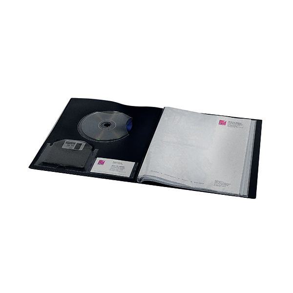 Rexel Clearview Display Book 24 Pocket A4 Black 10320BK