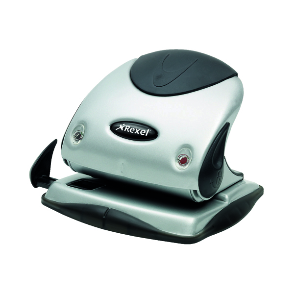 Rexel Precision P225 Hole Punch Silver/Black 2100743