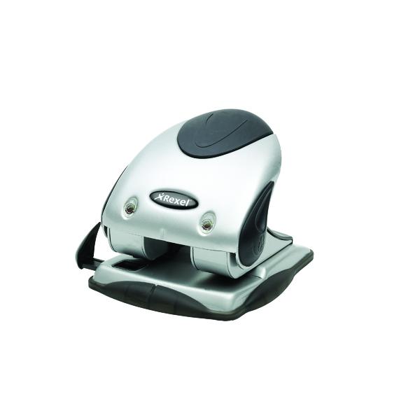Rexel Precision P240 2 Hole Punch 40 Sheet Silver/Black 2100748