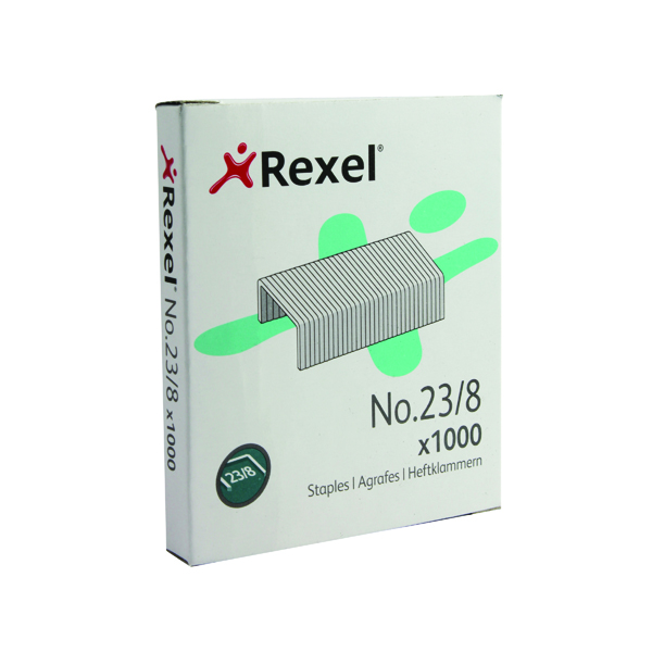 Rexel No. 23 Staples 8mm (Pack of 1000) 2101054