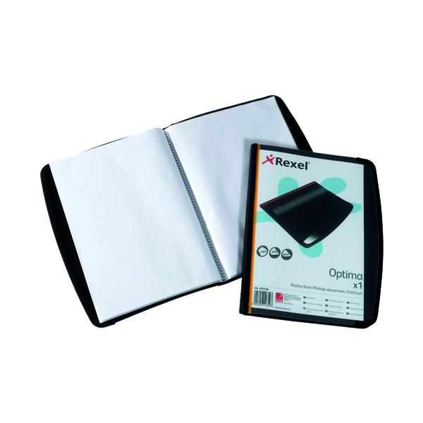 Rexel Optima Display Book 20 Pockets Black 2101130