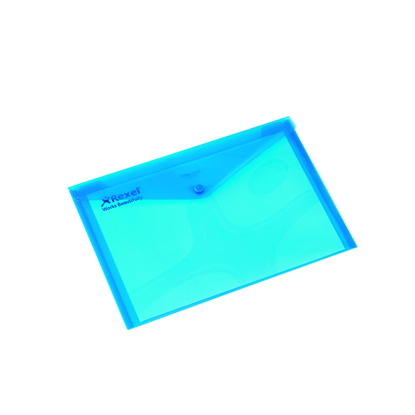 Rexel Carry A4 Folder Translucent Blue (Pack of 5) 16129BU