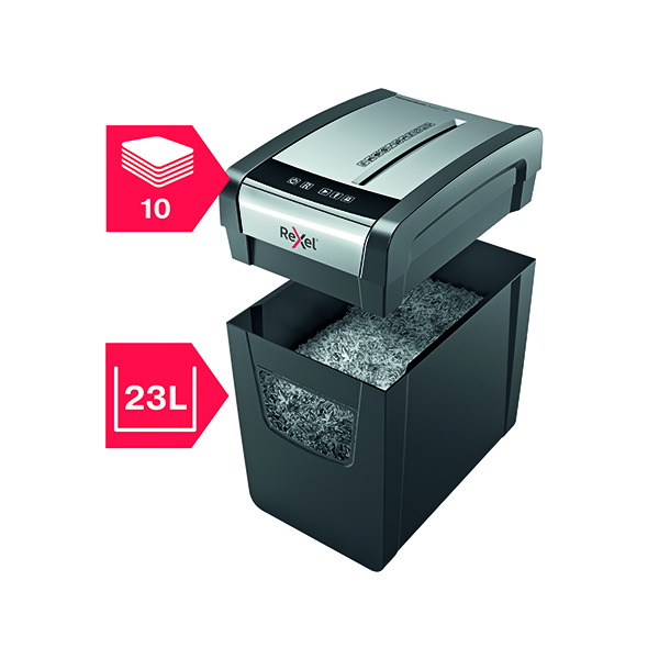 Rexel Momentum X410-SL Slimline Cross-Cut Paper Shredder 2104573