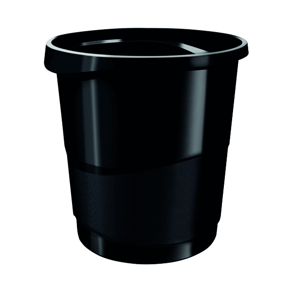 Rexel Choices Waste Bin Black 2115622