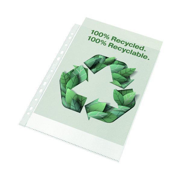 Rexel 100% Recycled A4 Punched Pocket (Pack of 100) 2115702