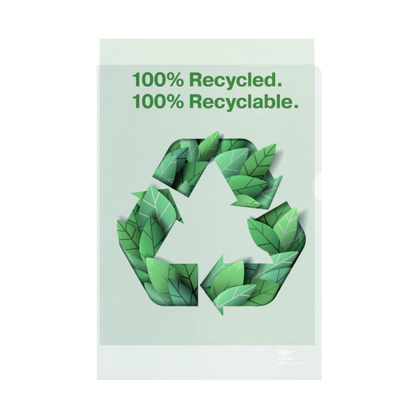 Rexel 100% Recycled A4 Plastic Folder (Pack of 100) 2115704