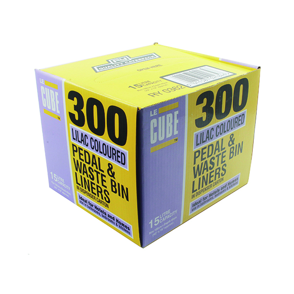 Le Cube Pedal Bin Liner Dispenser (Pack of 300) 0362