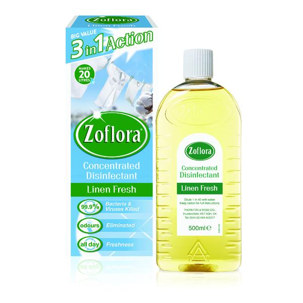 Zoflora Disinfectant Linen Fresh 500ml (Pack of 12) RY20963