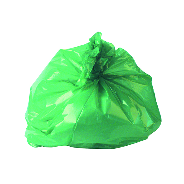 Image for 2Work Medium Duty Refuse Sack Green (Pack of 200) RY15561