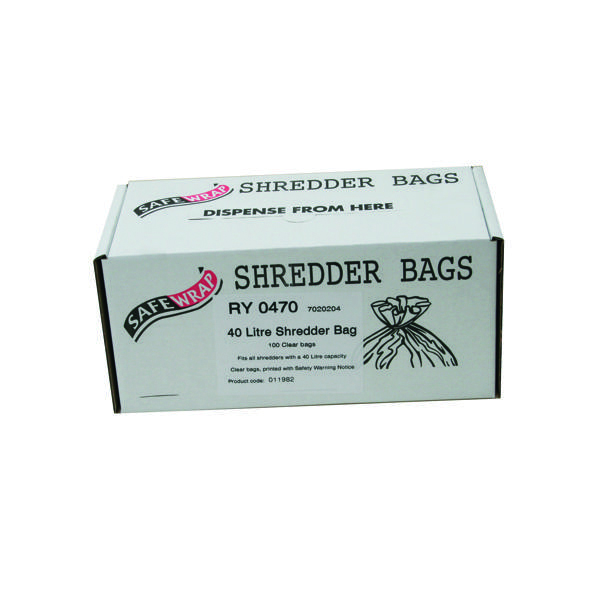 Safewrap Shredder Bag 40 Litre (Pack of 100) RY0470