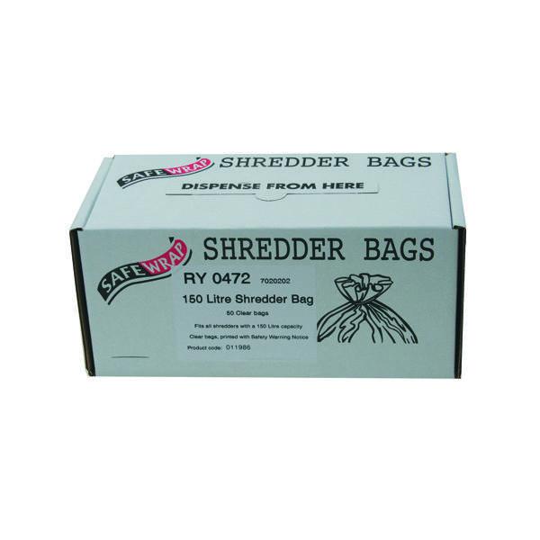 Safewrap Shredder Bag 150 Litre (Pack of 50) RY0472