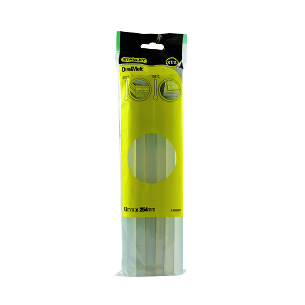 Stanley Dual Melt Glue Stick 10 Inch (Pack of 12) 0-GS25DT