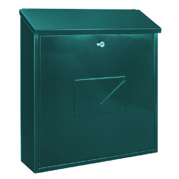 Image for Firenze Green Steel Plate Lockable Mail Box 371792