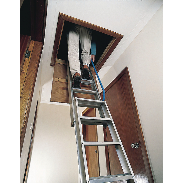 Loft Ladder 2540mm Aluminium (Adjustable floor-to-floor height 2.29m - 2.54m) 306685
