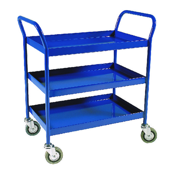Service Trolley 3-Tier Fixed Blue 306764