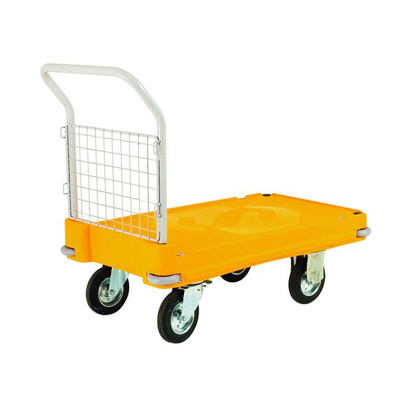Plastic Platform Truck Push Handle 1 End Yellow 308511