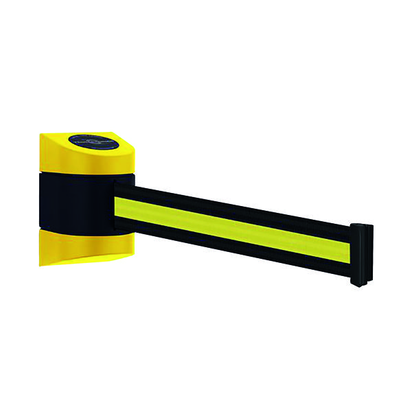 VFM Black /Yellow Wall Mounted Retractable Barrier 4.6m 309834