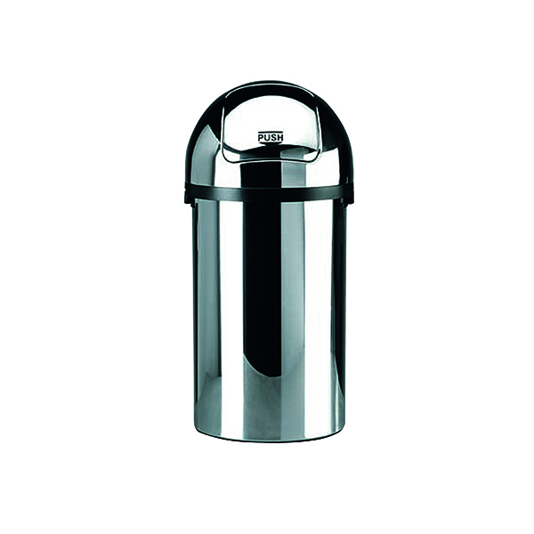Push Bin 50 Litre Chrome (H825 x D405mm, High grade chromium steel) 311733